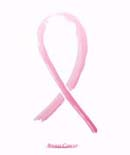 Pink ribbon on her chest to support breast cancer cause or AIDS.