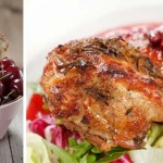 Chicken with peppered berry sauce