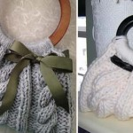 Chic cable knit bag