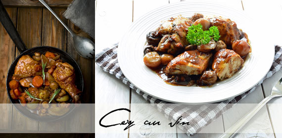 Quick and easy coq au vin