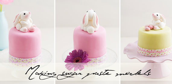 Easter bunnies for cake decorating