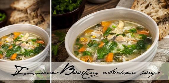 Immune-boosting chicken soup