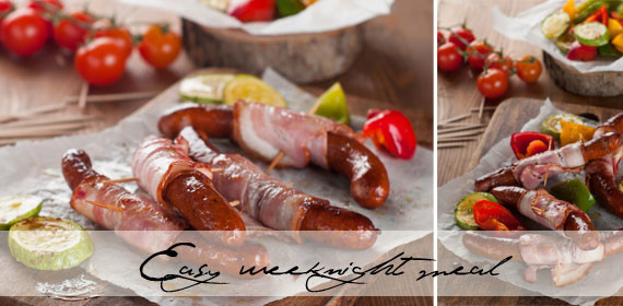 Easy weeknight meal: Baked sausages