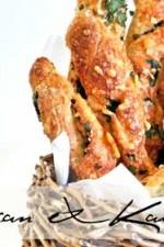 Parmesan and kale twists