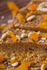 Healthy ginger & apricot slab