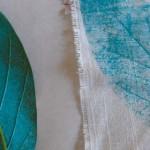 Leaf print bunting