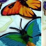 Quilted felt butterflies