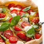 Cherry tomato and zucchini tart