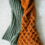 DIY knitted scarf