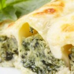 Spinach & cottage cheese cannelloni