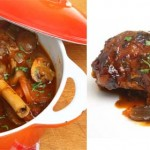 Lamb Shanks with Mushrooms and Tomatoes