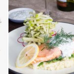 Poached salmon with fennel