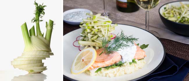 Salmon fennel recipe