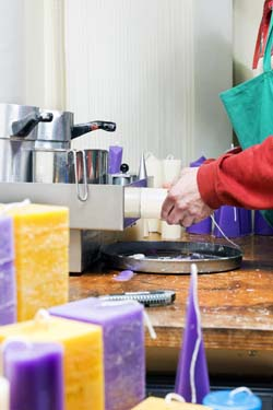 Candlemaker at work