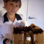 Daniel's Medieval gingerbread castle. Click to enlarge.