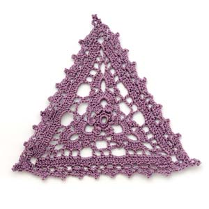 Crocheted triangle