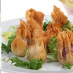 Filo parcels – Camembert and goat cheese parcels