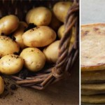 Parathas with potato filling