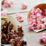 Chocolate and cherry candied popcorn