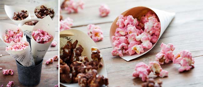 Chocolate candied popcorn