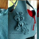Felted handmade bag tutorial
