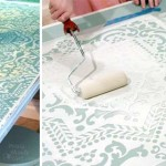 DIY stencilled table