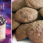 Gluten-free choc raspberry cookies + book giveaway