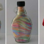 Coloured salt bottles