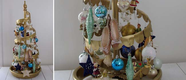 Vintage Christmas tree diy