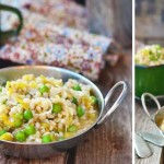 Barley risotto with peas