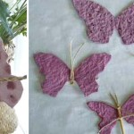 Flower seeded handmade paper
