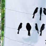 DIY stencilled tea towel