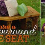 Make a wraparound tree seat