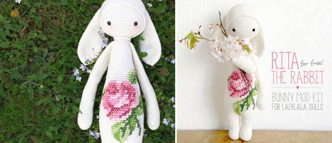 Dolls & Bears Crochet Doll Rabbit Art Dolls-ooak