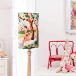 Tapestry lampshade