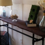 DIY rustic chic console table