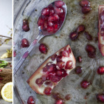 Pomegranate and lemon mocktails