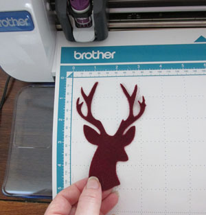 Cut out felt reindeer