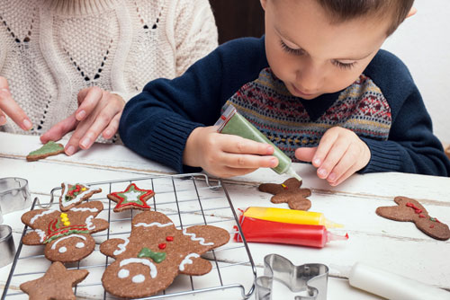 Image result for kids decorating gingerbread men