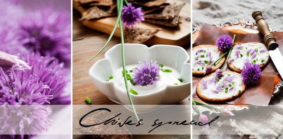 Chives and garlic spread