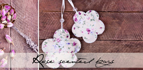 Rose scented sachets