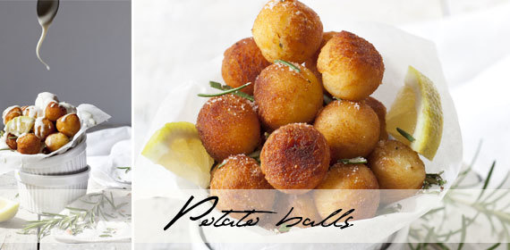Crispy fried potato balls