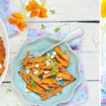 Baked carrots with feta and cumin