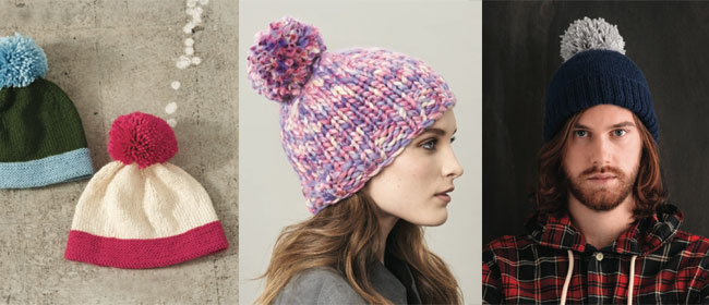 Knitted-hats-pompom