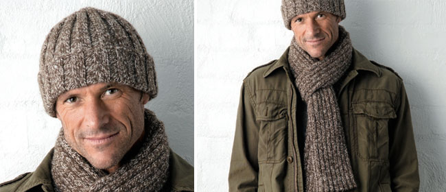 Knitted-scarf-and-beanie