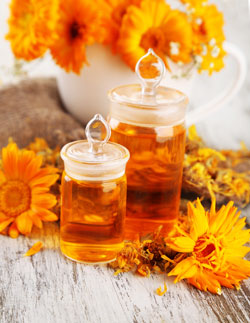 Cold-infused calendula oil