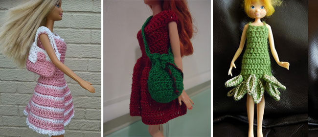 Crocheted Barbie clothes – 10 free patterns
