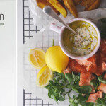 Posh fish 'n' chips with lemon yoghurt dressing