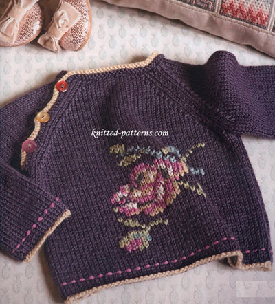 Free Knitting Pattern Baby Kimono Sweater : Boutique baby clothes to knit   10 free patterns