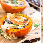 Roasted butternut with camembert and chicken